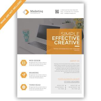 Geschäftsmarketing flyer vorlage