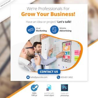 Geschäftsmarketing-social media-web-fahne