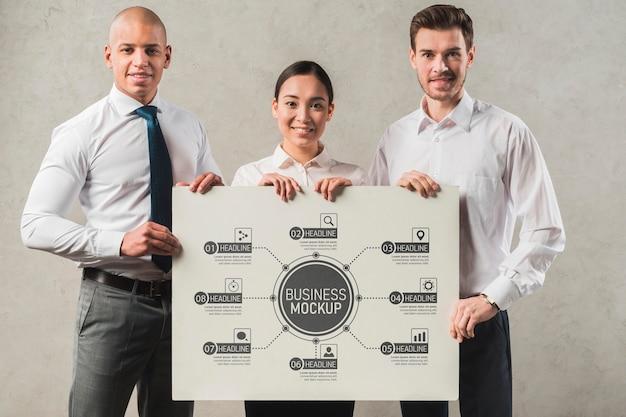 Geschäftsmodell für smiley-arbeiter