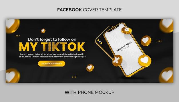 Geschäftsseiten-werbung mit 3d-render-gold-telefonmodell für social-media-banner