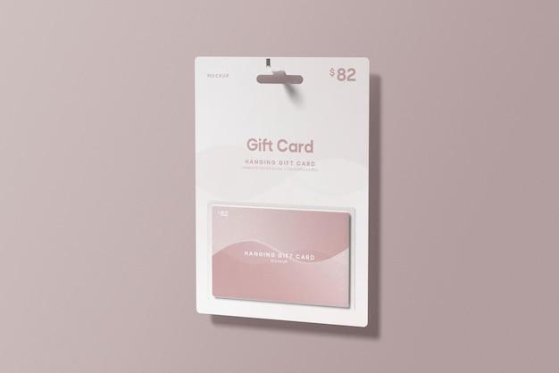 Geschenkkarte mit hängendem geschenkkartenmodell