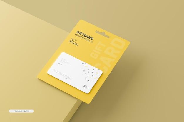 Geschenkkarte mit kartenhaltermodell