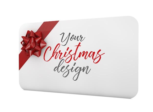 Geschenkkartenmodell mit band isoliert