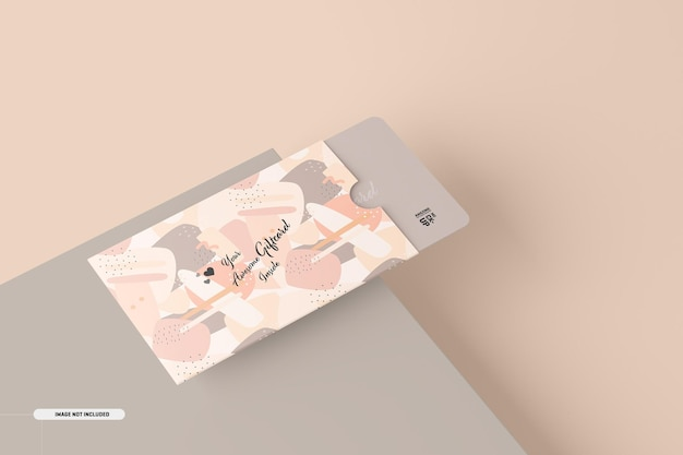 Geschenkkartenmodell mit kartenhalter