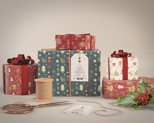 Geschenkverpackungsprozess zu hause modell