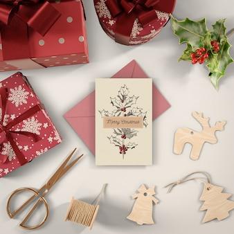 Geschenkverpackungsprozess zu hause