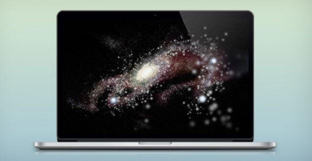 Geschichteten retina macbook pro psd