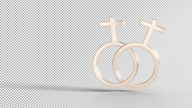 Geschlechtsidentitätssymbole - weiblich mit weiblich