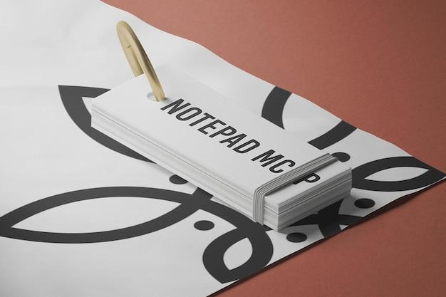 Geschlossenes notizblock-modelldesign in 3d-rendering