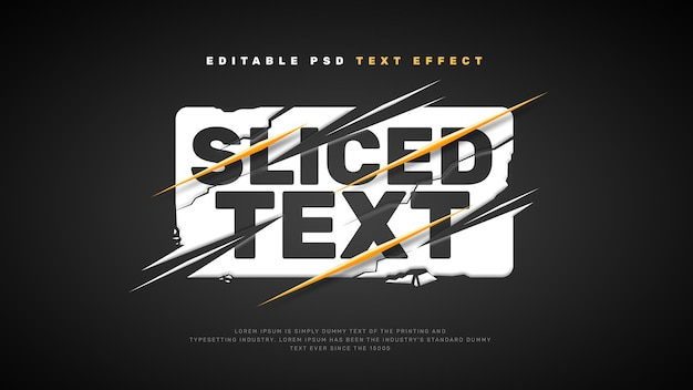Geschnittener texteffekt