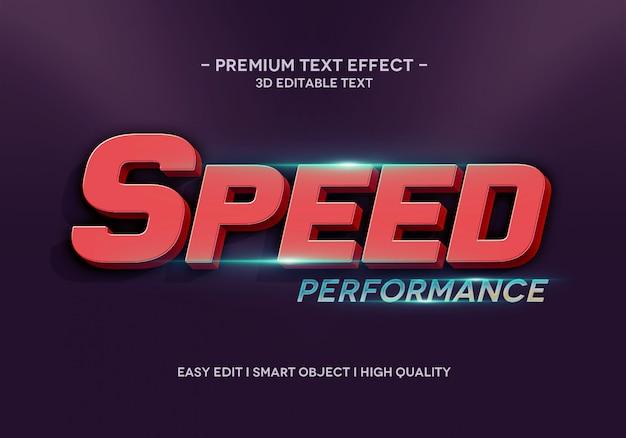 Geschwindigkeitsleistung texteffektstilvorlage