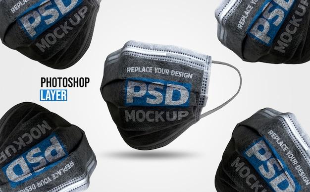 Gesichtsmaske mockup design