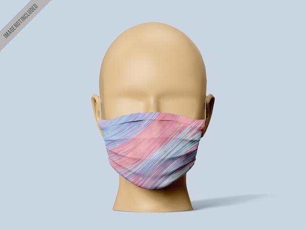 Gesichtsmaske mockup vorlage