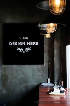 Gestaltungsraum auf schwarzem brett