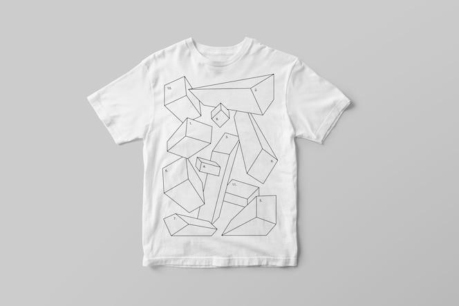 Gestricktes t-shirt-modell