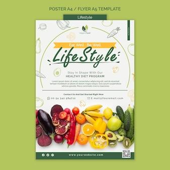 Gesunde ernährung lifestyle-plakatvorlage