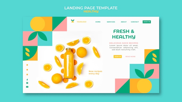 Gesunde landingpage