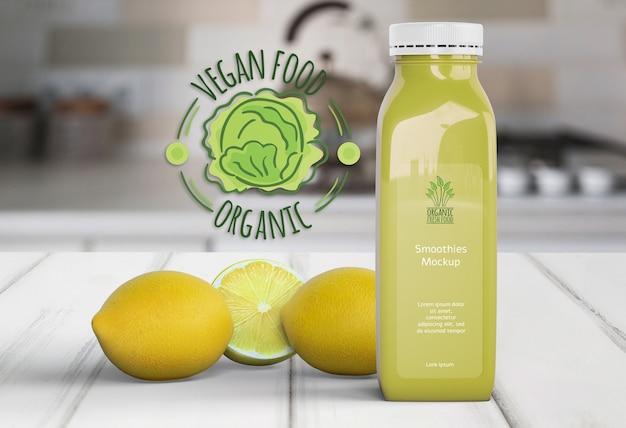Gesunde limonade für detoxkonzept