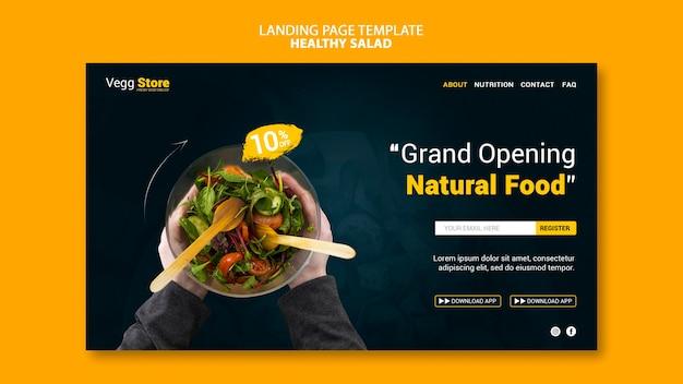 Gesunde salat-landingpage-vorlage Premium PSD