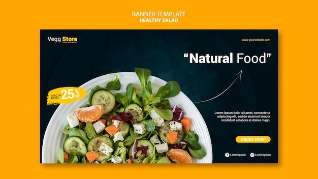 Gesunde salatfahnenschablone Kostenlosen PSD