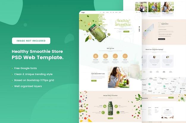 Gesunde smoothie store web-vorlage