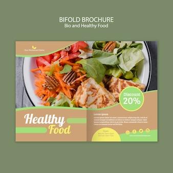 Gesunde und bio-bifold-broschüre