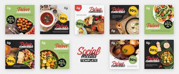Gesunde und bio-social-media-post