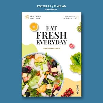 Gesundes essen poster vorlage thema