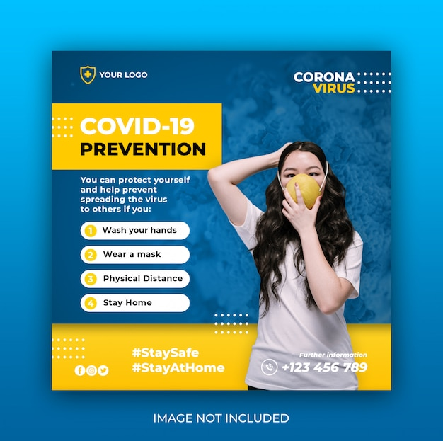 Gesundheitsbanner mit viruspräventionsthema