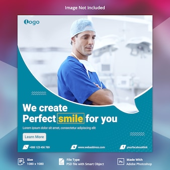 Gesundheitswesen social media banner vorlage