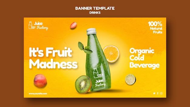 Getränke bieten banner vorlage