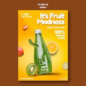 Getränke bieten flyer vorlage
