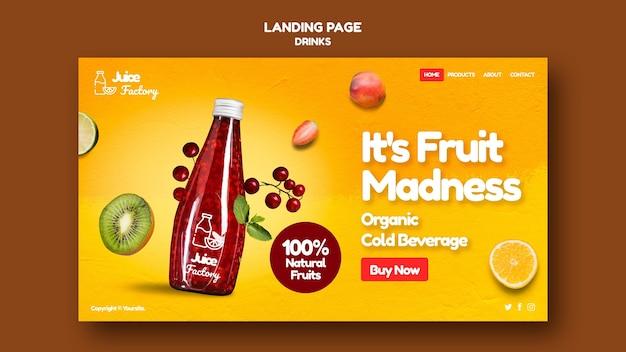Getränke bieten landingpage