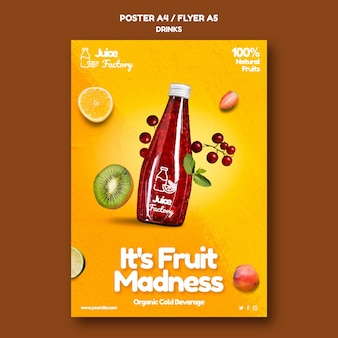 Getränke bieten plakatvorlage