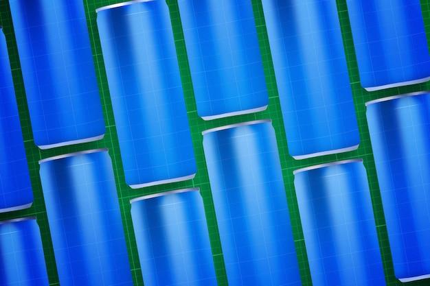 Getränkedose und aluminiumflaschen
