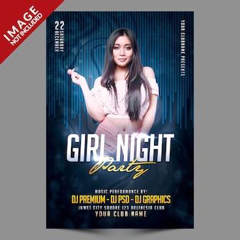 Girl night party flyer vorlage