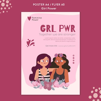 Girl power flyer vorlage