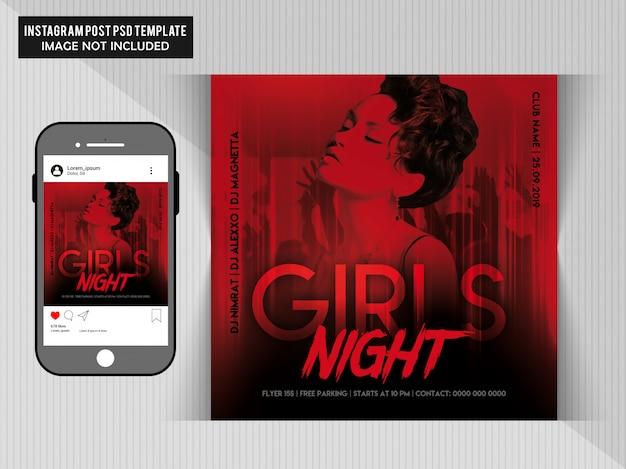 Girls night party post für instagram