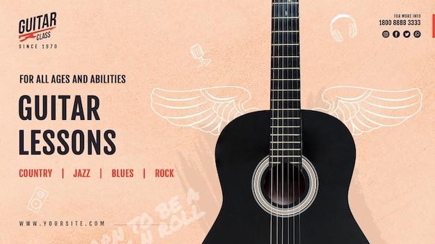 Gitarrenunterricht banner vorlage