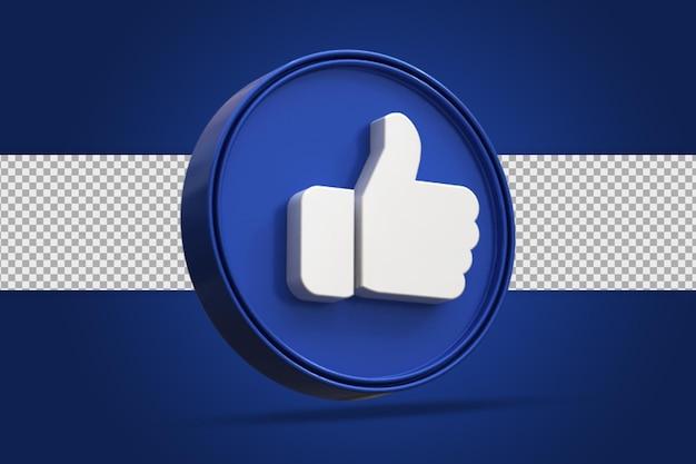 Glänzend wie social-media-logo-symbol 3d-rendering