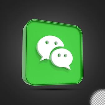 Glänzend wir chatten social media logo symbol 3d-rendering