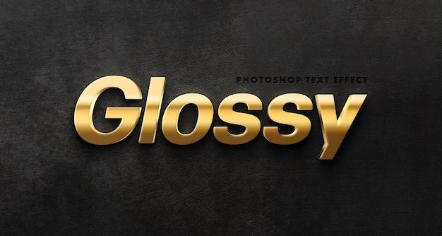 Glänzende goldene texteffektschablone