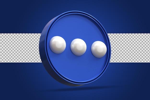 Glänzende nachricht social media logo symbol 3d-rendering