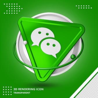 Glänzendes nachrichten-chat-symbol isolierte 3d-design-rendering