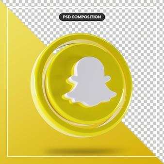 Glänzendes snapchat-logo isolierte 3d-design