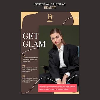 Glamouröse flyer-vorlage