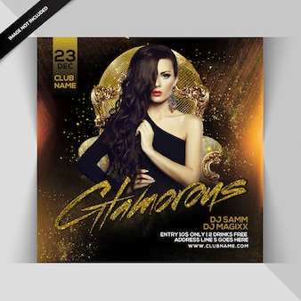 Glamouröser party-flyer