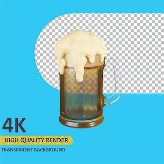 Glas bier cartoon rendering 3d-modellierung