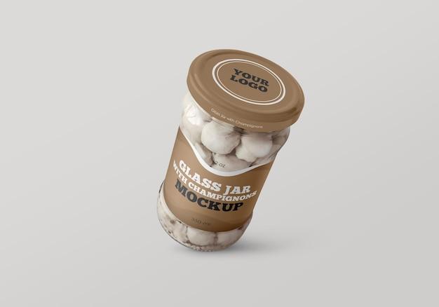 Glas mit champignon-modell