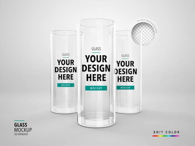Glas mockup 3d machen realistische tasse longdrink